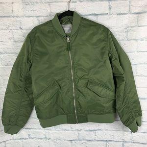 Everlane Green Bomber Jacket